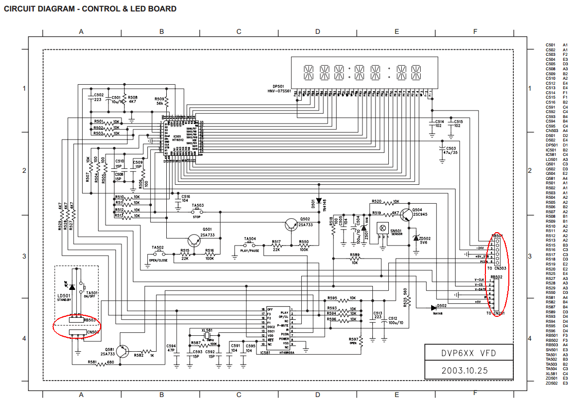 hight resolution of philips dvp630 vfd pcb hacking points