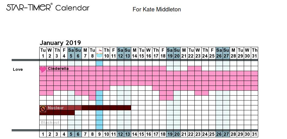 Instant Personal Love Calendar - 3 month Calendar