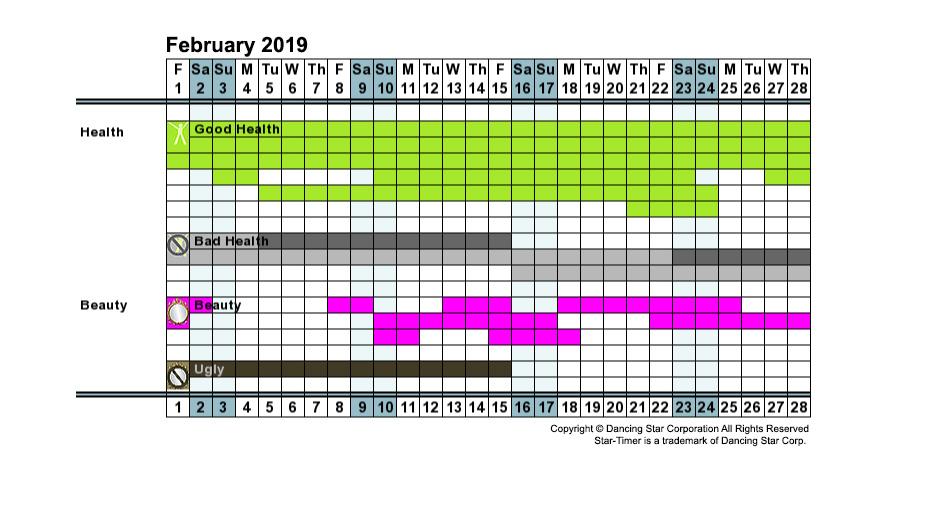 Instant Personal Health & Beauty Calendar