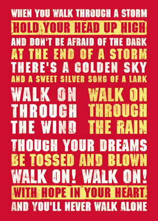 Liverpool FC Football Lyrics Poster Magik City Cool T