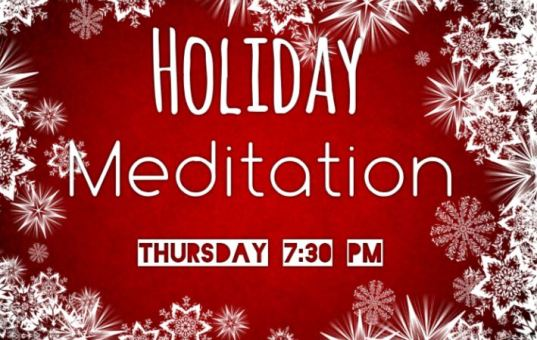 Magikal Door's Special Holiday Meditation Tonight! 7:30 PM 12/22/2016