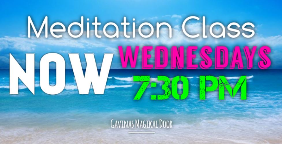 Meditation: NOW Wednesdays at 7:30 PM