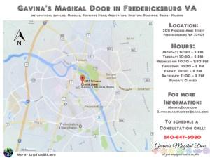 Gavina's Magikal Door Map Traveling on Route 3 Toward FXBG