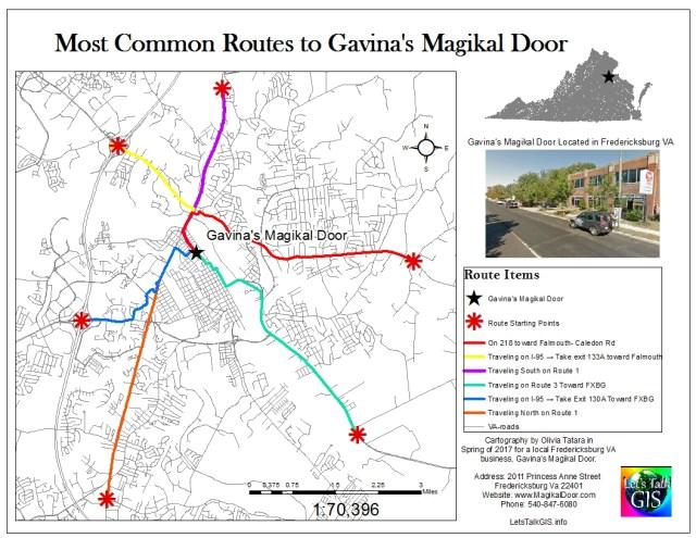 Routes to Gavina's Magikal Door