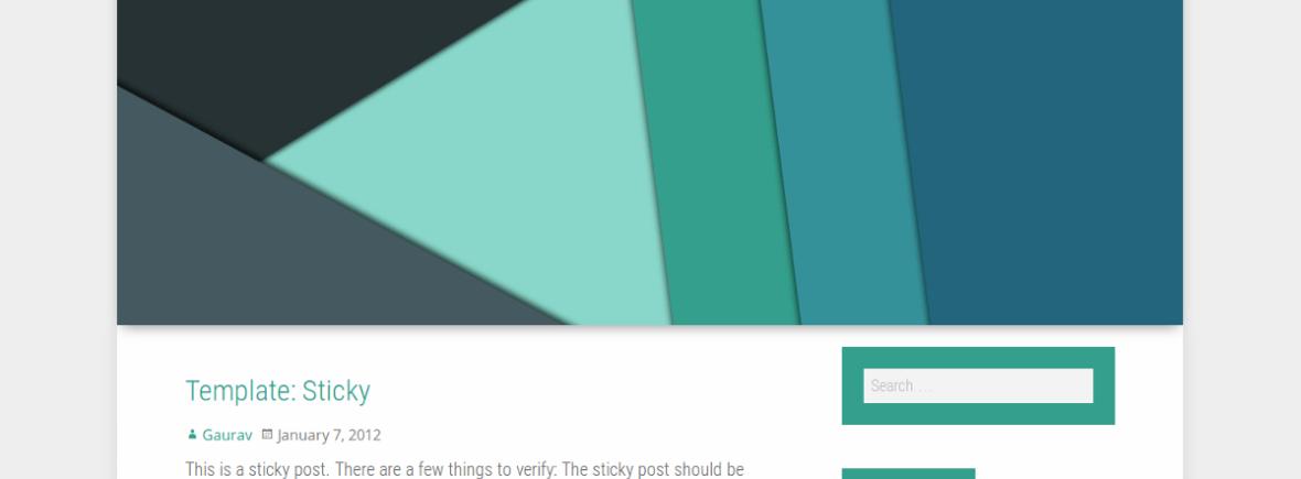 Polymer theme screenshot