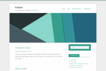 Polymer theme screenshot