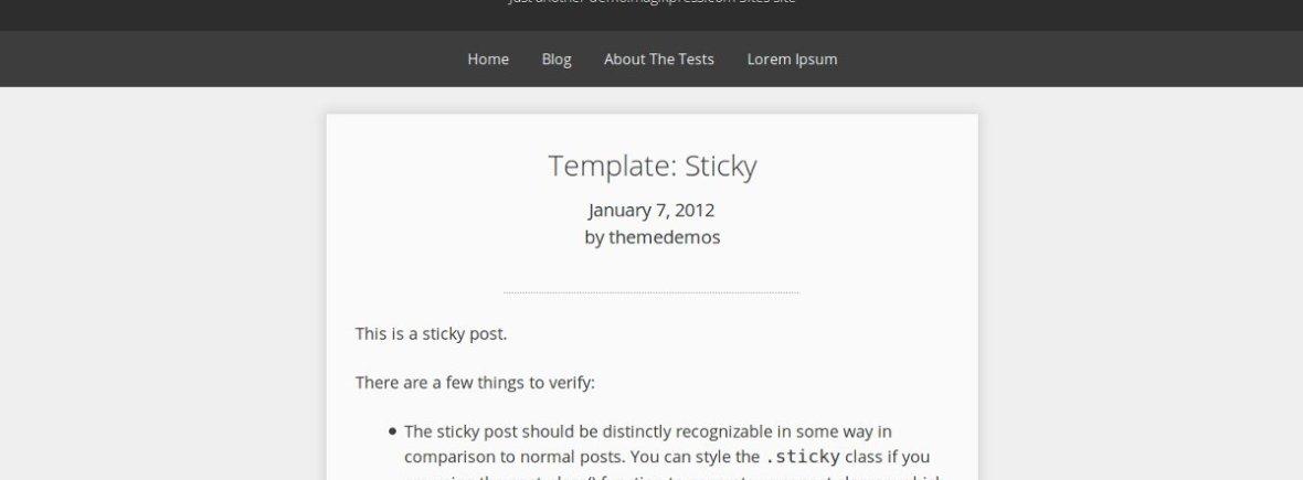 Screenshot of relativity theme on WordPress theme repository