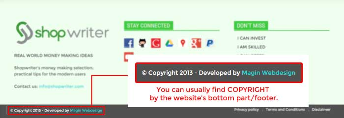 web-design-copyright-footer-website