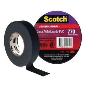 CINTA AISLADORA SCOTCH 770 3M X 10 MTS NEGRA