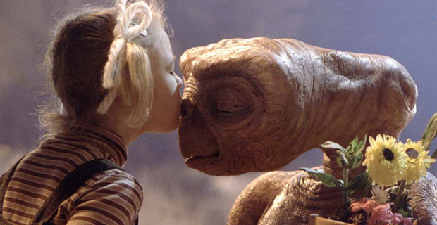 Imagen de la película E. T., de Steven Spilberg