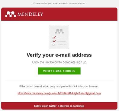 email cara mendaftar Mendeley
