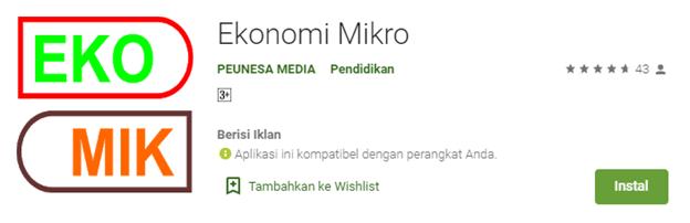 Ekonomi Mikro Versi Android