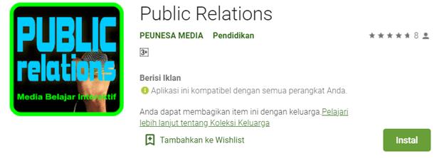 aplikasi android sejarah perkembangan public relation