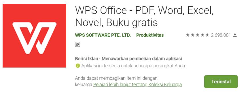 Cara Menambahkan Font di WPS Office Android