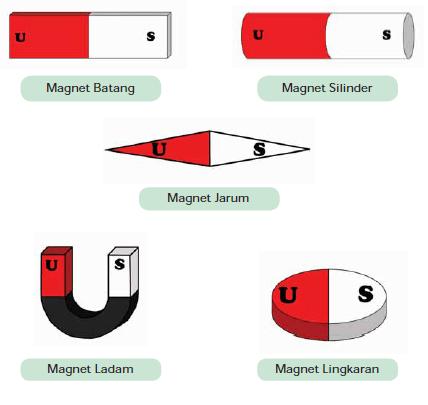 jenis jenis bentuk magnet