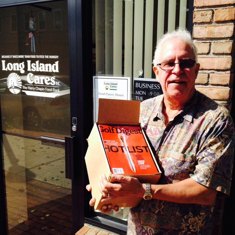 Greg Barber delivers magazines to Long Island Cares