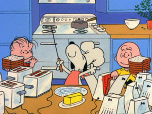 Look at Charlie Brown. That is not the face of a well adjusted child.