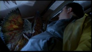 Before anyone starts complaining, yes, I know this dinosaur is scientifically inaccurate. Spielberg just wanted it to look cool while it was killing Newman.