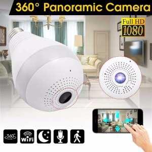 Caméra IP wifi Panoramique + Ampoule Lampe LED