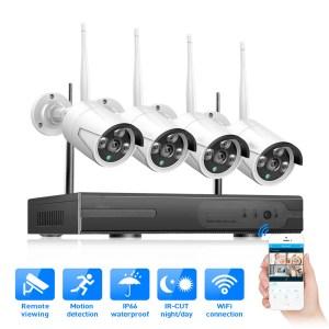 Pack 4 Caméras CCTV  WIFI + NVR 4CH sans fil + Alimentation