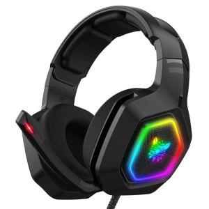 Casque de jeu gamer ONIKUMA K10 RGB filaire COMPatible pour PS4/ordinateur/adaptateur casque/ONE ONE S/tablette/téléphone portable