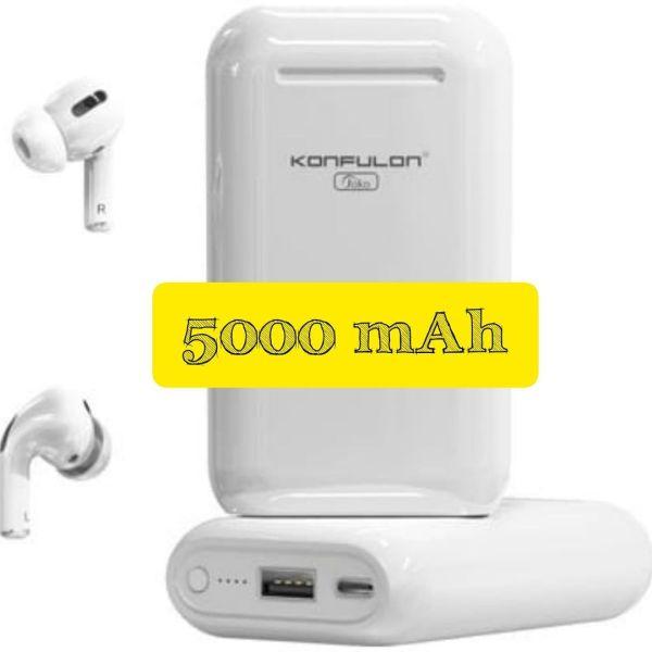 Écouteurs Bluetooth 5.0 Konfulon BTS-10 avec Powerbank 5000mAh 🔋 Jusqu'à 40 heurs d'écoute 🎧