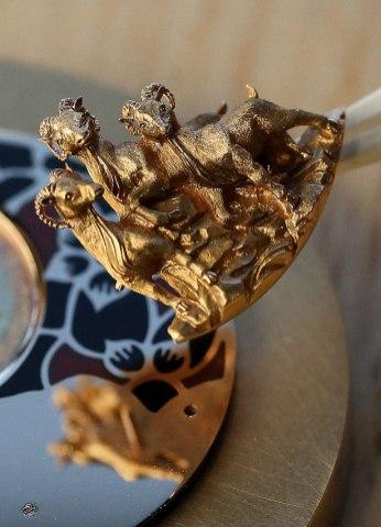 Montre Jaquet Droz Ateliers d'Art en hommage au signe de la Chèvre