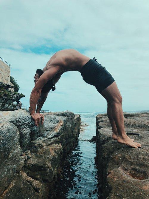 Patrick Beach Yoga Pose
