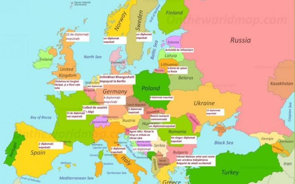 Toţi Spionii Rusiei Infiltraţi In Europa Harta Detaliată Magnanews