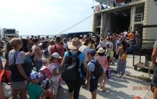προσφορά επιβάτες πλοίω Λιμάνι του Βόλου