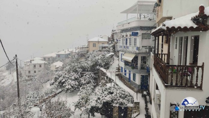 Χιόνια στη Σκόπελο 2021