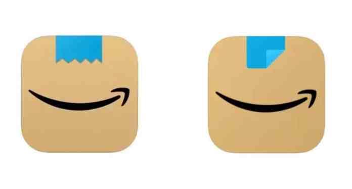 H Amazon αλλάζει το εικονίδιο της εφαρμογής για τις IOS και Android συσκευές