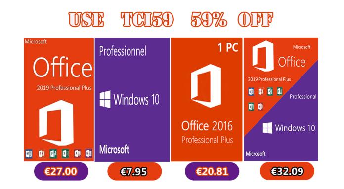 Αποκτήστε Windows 10 Pro με €7.95 και Office 2016 Pro με €20