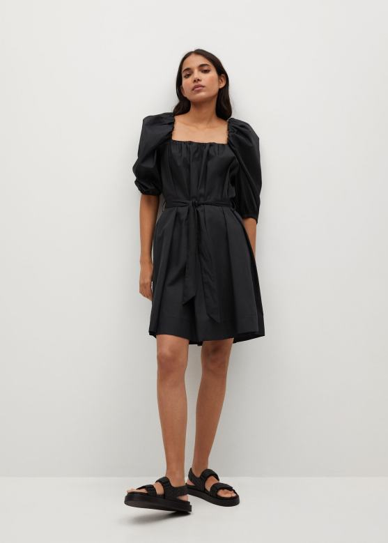 Φόρεμα ποπλίνα φουσκωτό μανίκι - Γενικό πλάνο