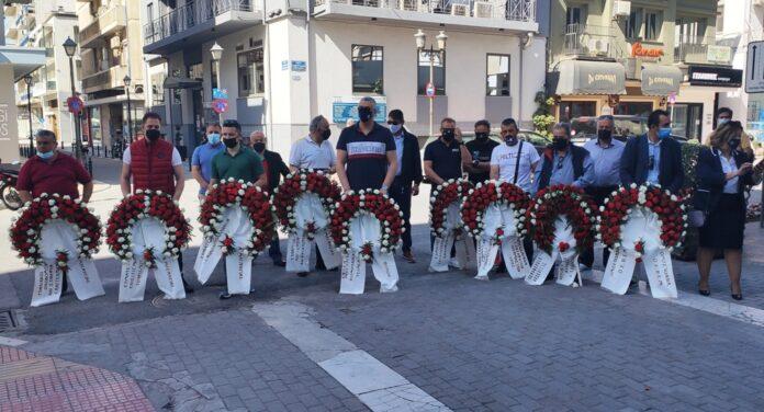 Πρωτομαγιά: Με κατάθεση στεφάνων γιορτάστηκε στο Βόλο