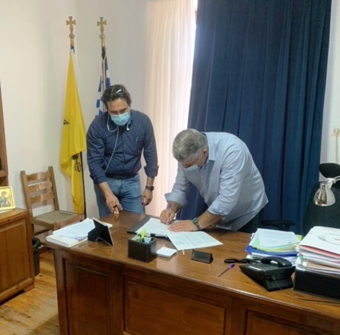 Υπογράφηκε η σύμβαση αποκατάστασης αγωγών του φράγματος Παναγιώτικο