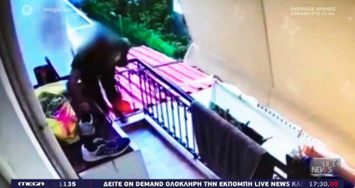 «Χτύπησε» ξανά ο κλέφτης της μπουγάδας – Γύρισε να πάρει και τα παπούτσια (video)