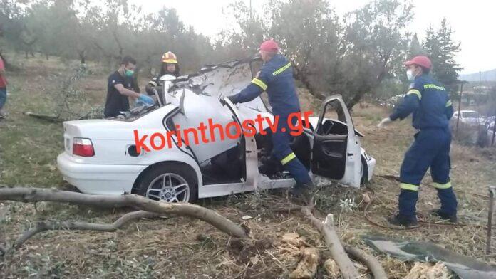 Νεκρός ανασύρθηκε οδηγός αυτοκινήτου που κατέληξε σε ελαιώνα