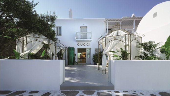 Ο οίκος Gucci εγκαινιάζει το νέο του κατάστημα στην καρδιά της Μυκόνου