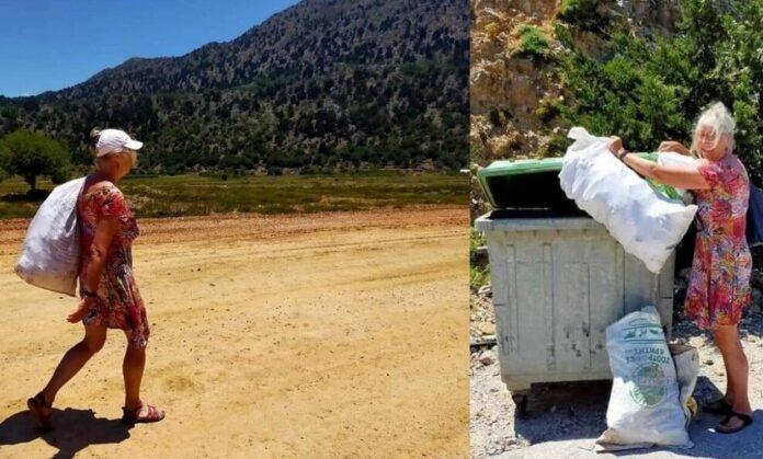Τουρίστες «βάζουν τα γυαλιά» για το μάζεμα των σκουπιδιών
