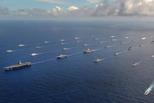 Navy Ships Formation