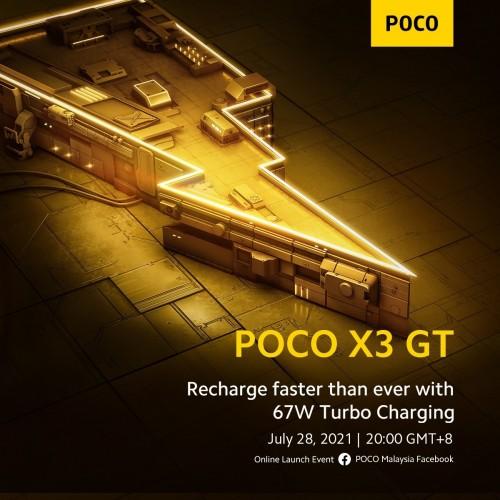 Poco X3 GT: Θα έχει πολύ γρήγορη φόρτιση στα 67W