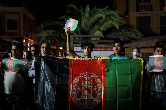 Λέσβος: Πρόσφυγες από το Αφγανιστάν διαδήλωσαν ενάντια στους Ταλιμπάν