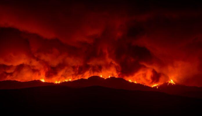 Φωτιά στη Νέα Μάκρη: Κοντά σε οικισμό και στο μοναστήρι του Αγίου Εφραίμ