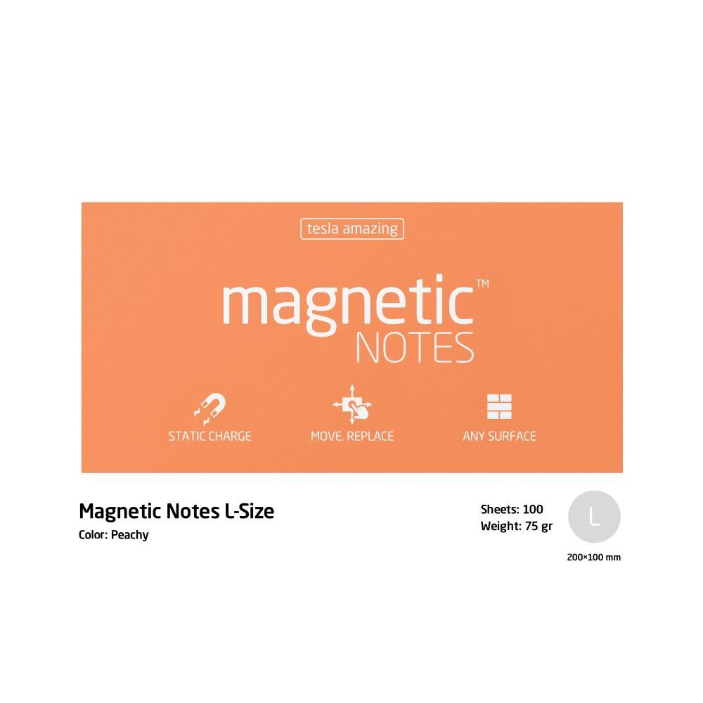 Magnetic notes large peachy