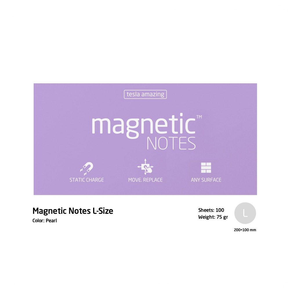 Magnetic notes large pearl