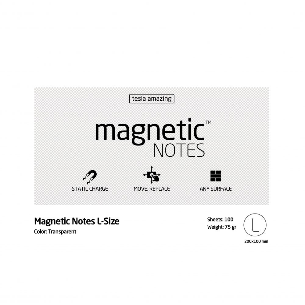 Magnetic notes large transparan