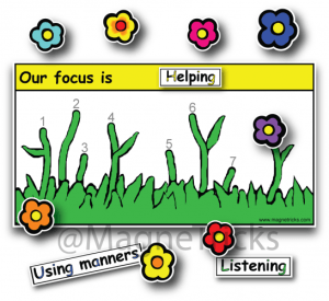 Flowers Magnetic Reward Chart