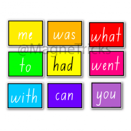 Magic magnetic sight word set