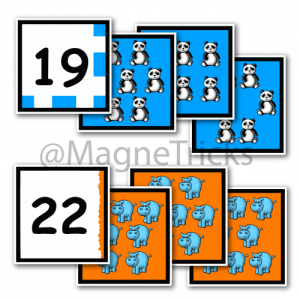 Number Matching Magnets 13 – 24